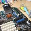 XPマシン復活(2) マザーボードにはんだ付け