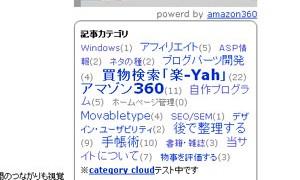 カテゴリークラウド(Category&cloud)
