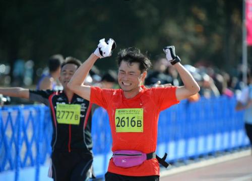 つくばマラソン2014ゴール1