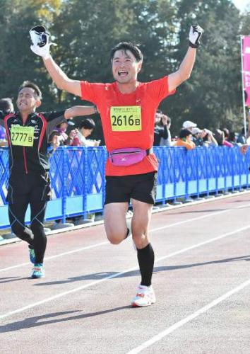 つくばマラソン2014ゴール2
