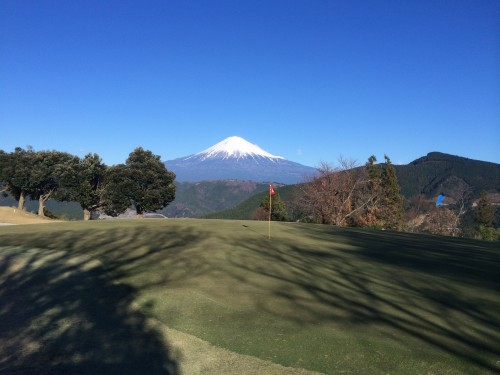 富士山とゴルフ場