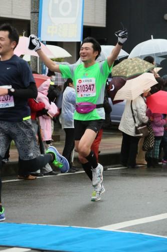 静岡マラソンゴール