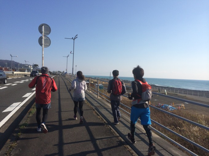 久能海岸をジョグ