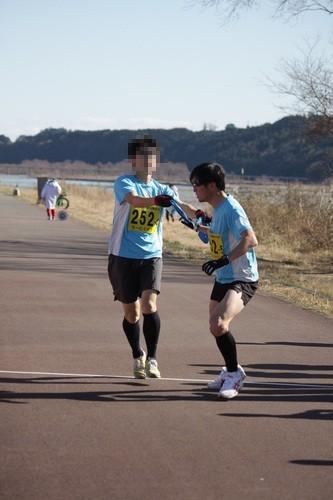 島田駅伝2015タスキリレー