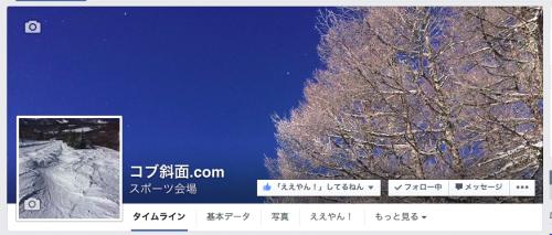 コブ斜面・フェイスブックページ