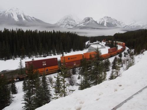 カナダの貨物列車