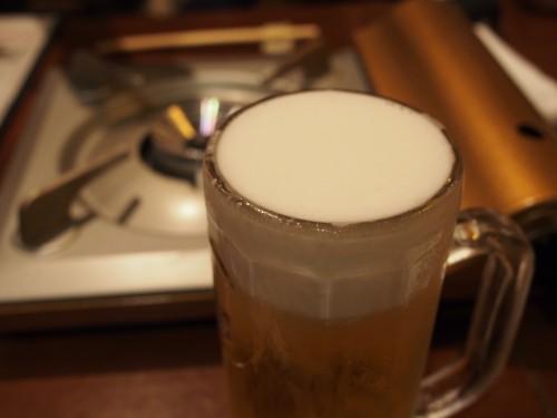 生ビール 安倍藁