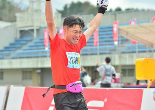 チャレンジ富士五湖2015 ゴールシーン