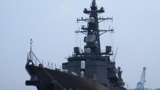 護衛艦見学は、本物の武器を見れて面白い