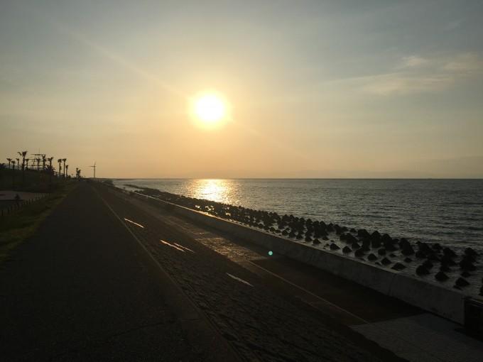 広野海浜公園からの日の出