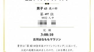 全日本マラソンランキング(年齢別)2015-2016 500位以内に突入!