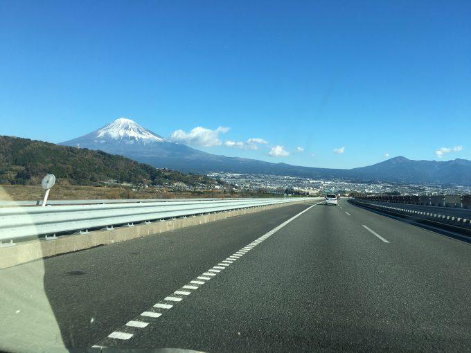 富士山と東名高速