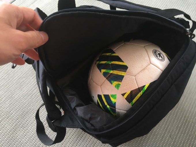 unbro バッグ サッカーボールの収納