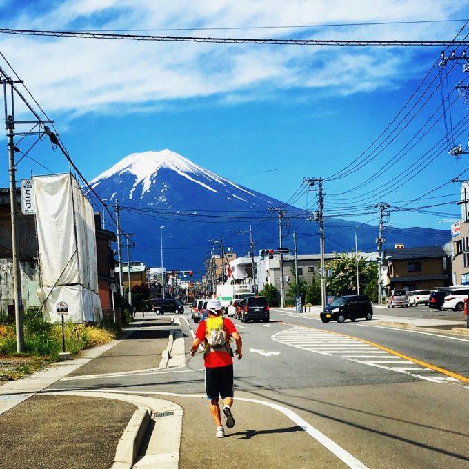 富士吉田市からの富士山