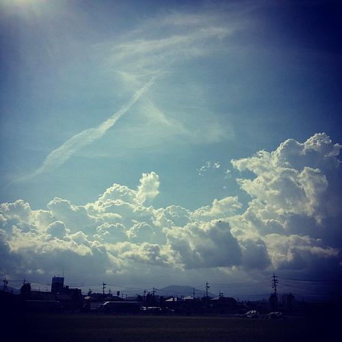ラピュタに出て来そうな雲
