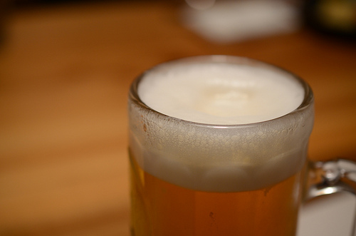 とりあえず生ビール!